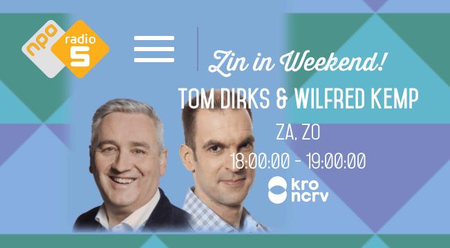 Radio NPO5 - Zin in Weekend