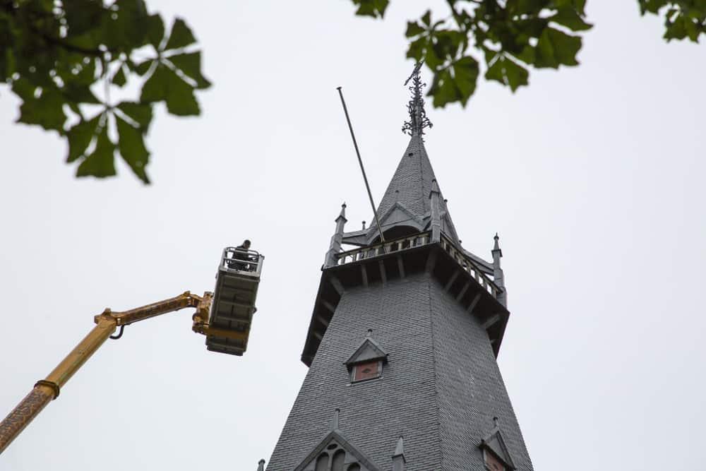 Herbouw St. Urbanuskerk Bovenkerk - vanaf grote hoogte